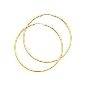 Polished Endless Large Hoop Earrings - 14K Yellow